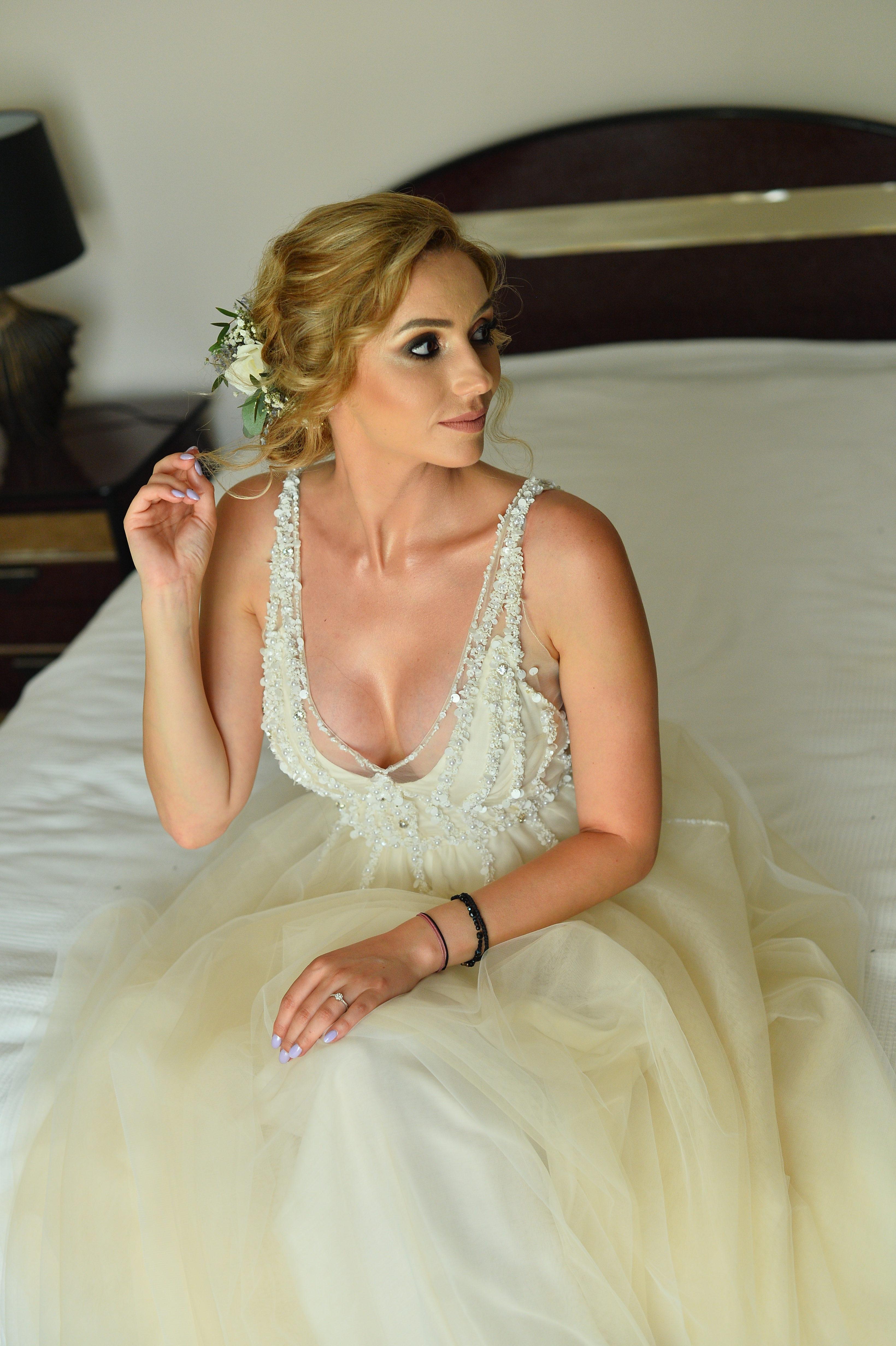 Rochie de mireasa semnata de designerul Oana Nutu Model Adelaida 2018 Couture Dress