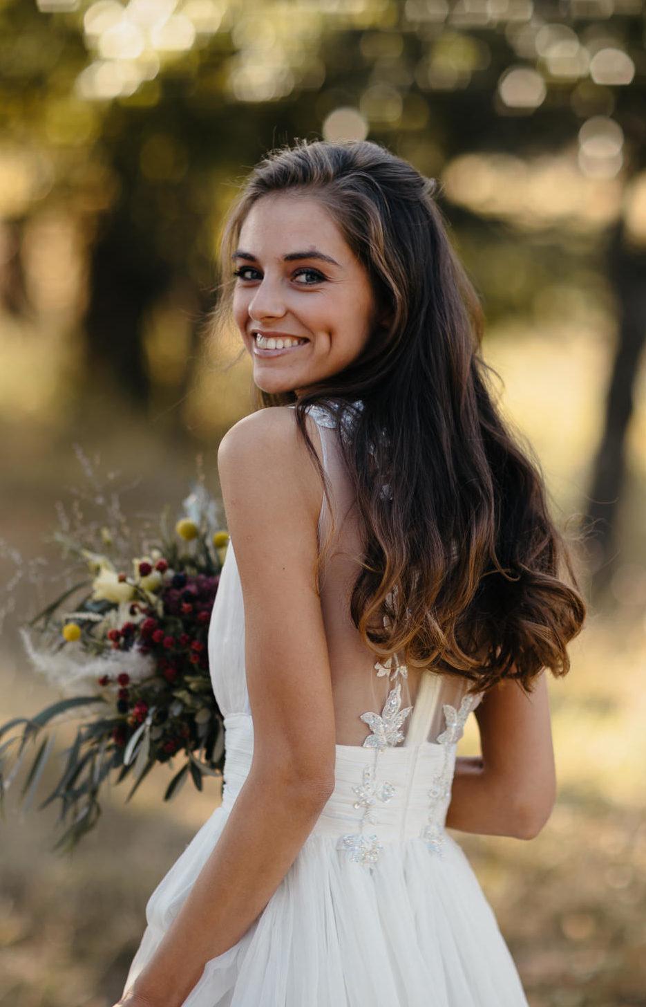 Oana Nutu White Deer Dress Matase Naturala rochie mireasa
