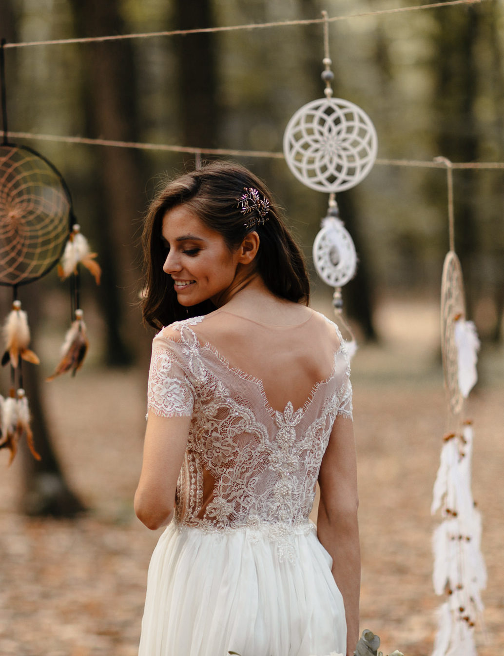 Boho Chic With a Touch of Silk and Chantilly Lace